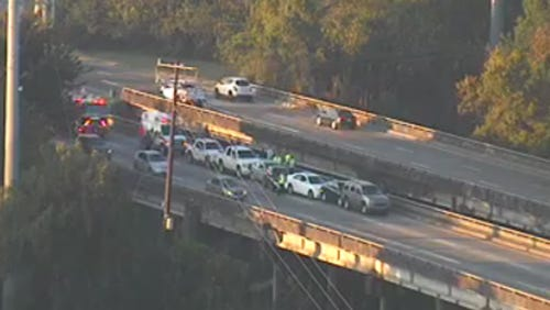 Multiple accidents back up the morning commute in Jackson.