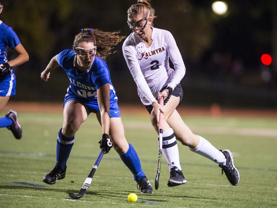 Jess Dembrowski, right, has been Palmyra's best player