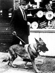 John L. Snyder served as York's mayor in the 1960s. He was a proponent of the York Police Department's use of K-9 Corps. Here, he walks one of the police dogs.