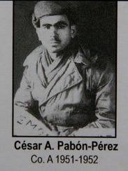 Korean War veteran Cesar Pabon Peres in a 1950-1951