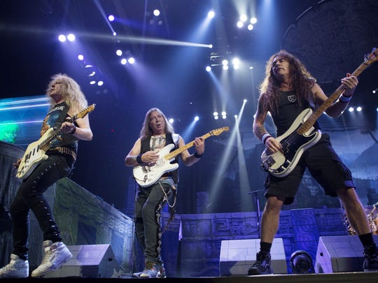 Iron Maiden members Janick Gers, Dave Murray and Steve