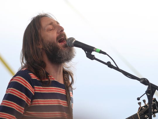 Chris Robinson of the Chris Robinson Brotherhood performs at Bromberg's Big Noise Music Festival in 2017.