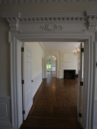A view of the interior of the 1920s Colonial mansion
