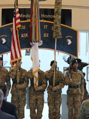 Fort Campbell's 101st Airborne Division held a color