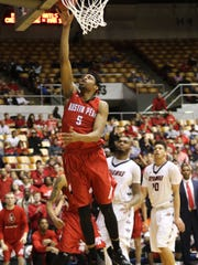 Austin Peay State University senior Chris Horton (#5)