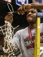 Austin Peay State University senior Chris Horton cuts