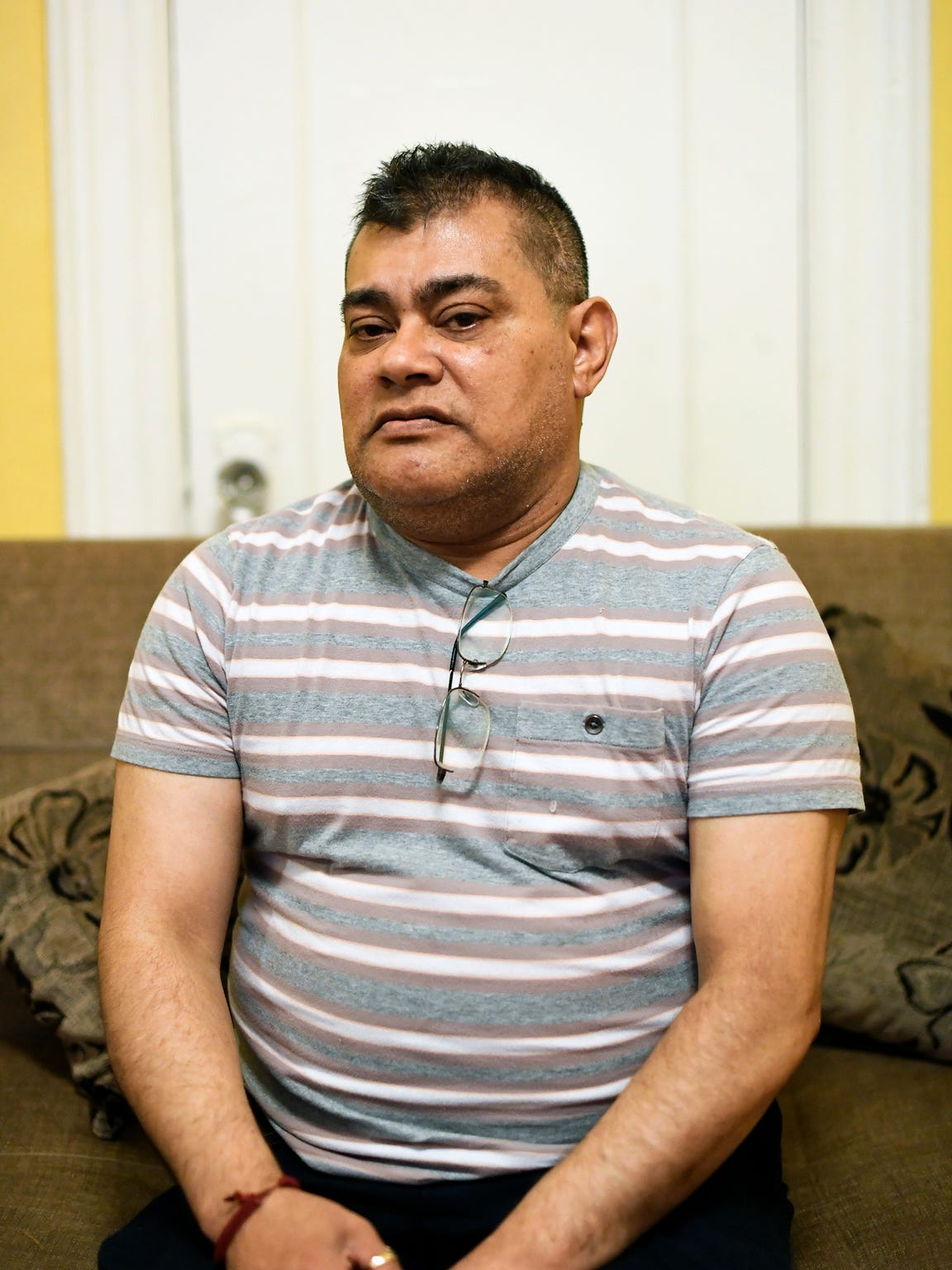 Ricardo Aviles, an immigrant from Honduras, has worked as an elevator operator in Jersey City for 17 years thanks to a work permit under the Temporary Protected Status (TPS). Photographed in Jersey City, NJ on Monday, June 11, 2018.