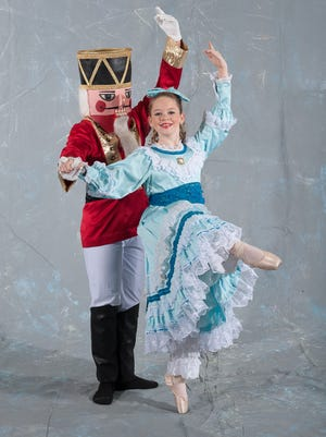 Paige Houseal (right) will perform with Elijah Kelley as the Nutcracker. The Eastern Shore Ballet Theatre will perform the winter classic Dec. 1-3, 2017.