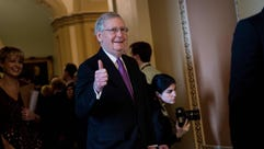 Senate Majority Mitch McConnell on Capitol Hill on