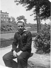 Glenn Strawn returning from the Navy on South High Street in Lancaster, May 29, 1944.