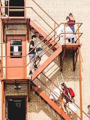 Bethel College students used a staggered move-in period last week as they prepared for the first week of class this week. Before classes began, the school was labeled as a COVID-19 cluster.