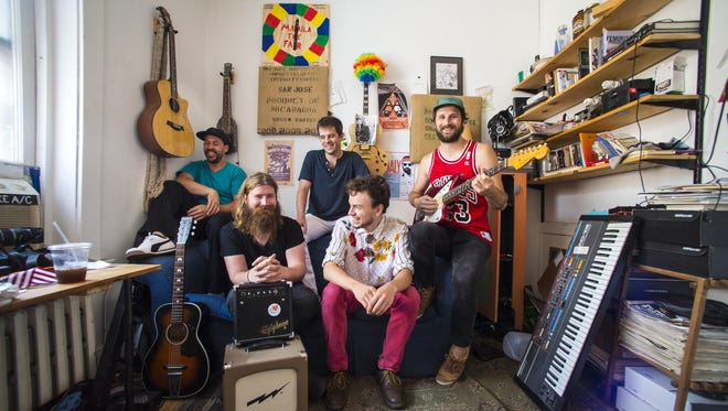 Madaila in their studio in Burlington on Friday August 19, 2016. Clockwise from the top left are (clockwise) Dan Ryan, Eric Maier, Mark Daly, Willoughby Morse and Jer Coons.