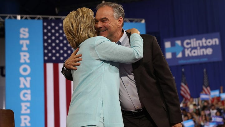 Hillary Clinton and Tim Kaine campaign in Miami on July 23, 2016.