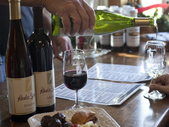 Keuka Springs Vineyard serves wine and food during