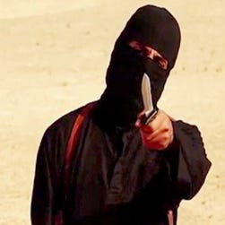 """A screen grab taken from a video released by the Islamic State  shows """"Jihadi John."""""""