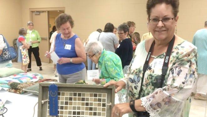 First place mosaic winner Winnie Decker.