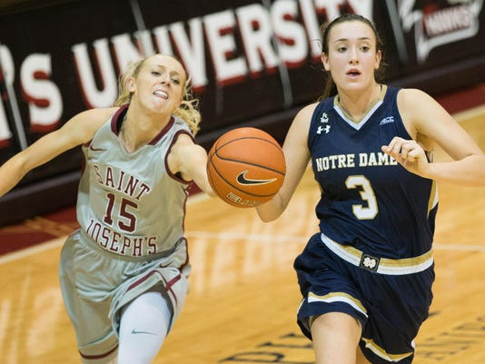 NCAA Womens Basketball: Notre Dame at St. Joseph's