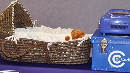 CuddleCots are mobile mortuary systems for infants.