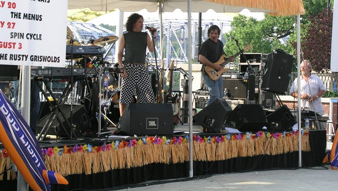 The Menus perform at a past LIVE at the Levee concert at Newport on the Levee.