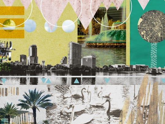 Jesse Kunerth's artistic image of Orlando.