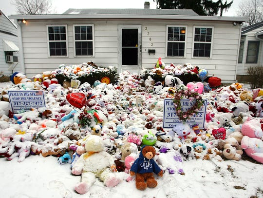 Hundreds of stuffed animals were part of a memorial