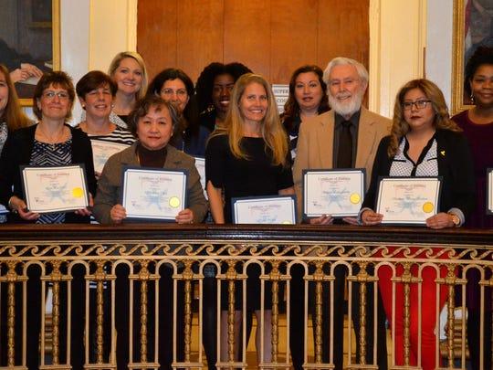 Sixteen new CASA of Union County volunteers were sworn
