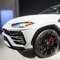 Lamborghini's 2019 Urus unveiled during Detroit auto show event at MOCAD