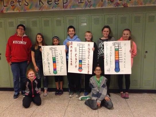 Theisen Middle School students recently conducted a