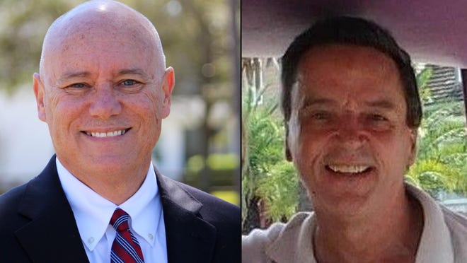 Flagler County Commission District 5 candidates are Donald O'Brien, left, and Bob Jones, right.