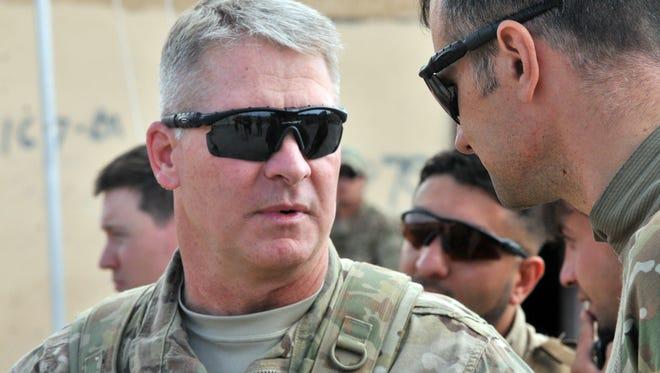 U.S. Army Brig. Gen. David Haight and U.S. Army Maj. Darren Glenn.