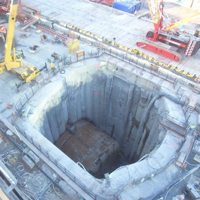 Bertha reached the stopping point in the rescue pit