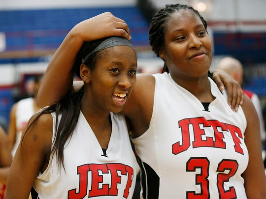 Glenesha Patterson, left, and Destinee Cross are all