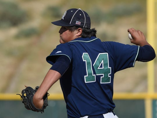 Damonte's Jadon Bercovich pitches against Spanish Springs
