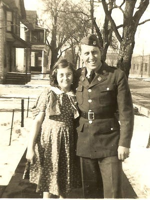 Army Technician Fourth Grade Pete M. Counter poses with his younger sister, Lavina, in this undated photo.
