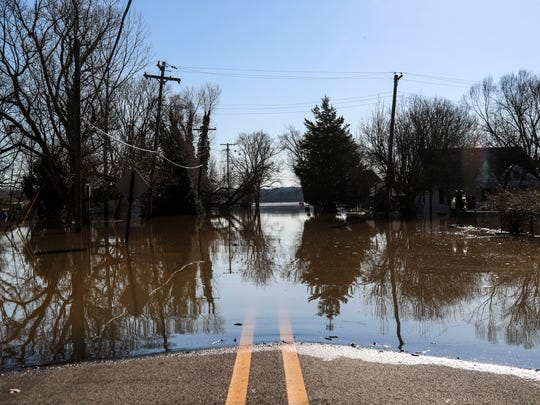 The flood waters are slowly expected to recede in Utica but more rain is forecast for Wednesday and Thursday. The Ohio River reached 36 feet, the ninth highest crest on record.