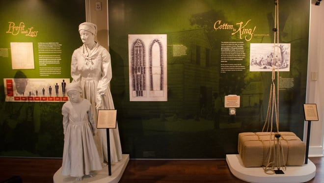 Exhibits on display at the Levi and Catharine Coffin State Historical Site in Fountain City, Ind. are seen on Thursday, Dec. 8, 2016.
