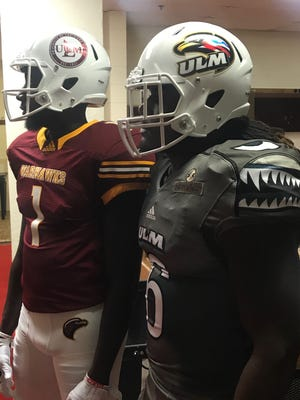 ULM unveiled its 2017 alternate uniforms in a team meeting on Monday.