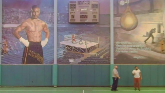 A mural inside the Graterford Correctional Facility.