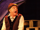 """The Fool (Robert Spencer) is surprised in """"King Lear,"""""""