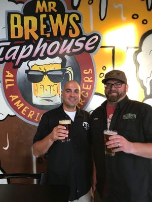 David Malcolm, (left) co-founder Zambaldi Beer, and Brad Stillmank, founder Stillmank Brewing, were guests on Taproom Live at Mr. Brews Taphouse in Bellevue.