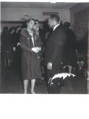 The Rev. Martin Luther King Jr. greets Maxine Vincent's
