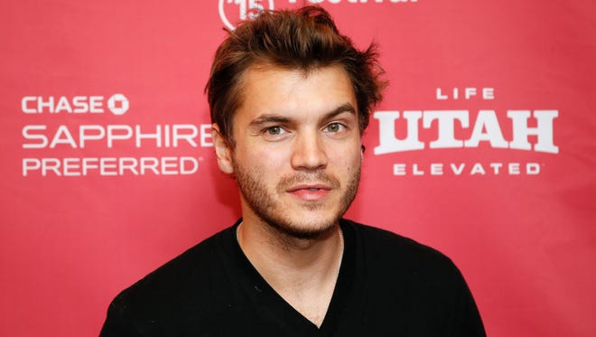 Emile Hirsch poses at the premiere of 'Ten Thousand Saints' during the 2015 Sundance Film Festival.