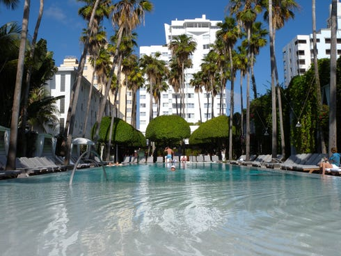 Delano Hotel, Miami: The Delano is one of the coolest and most popular spots on South Beach, drawing a wide range of clientele. Crowds of partiers can be found around the pool, in the lobby's red-lit Rose Bar and underground at FDR nightclub. There a