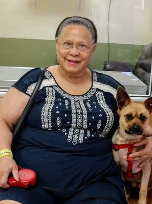 Theresa Pino and Suzy, now Chica, are perfect companions for each other.