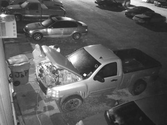 Police are searching for two males suspected of stealing