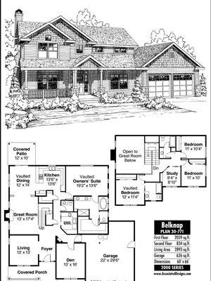 Belknap House plan