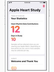 The Apple Heart Study collects stats from volunteer participants when you are wearing the Apple Watch.
