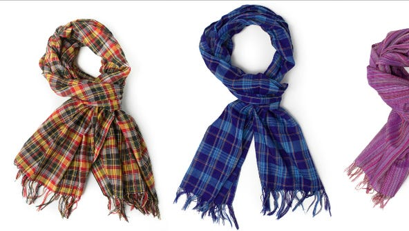 Des Moines charity Beza Threads sells scarves woven