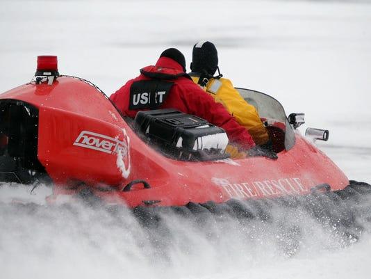 Snowmobile Deaths Ice