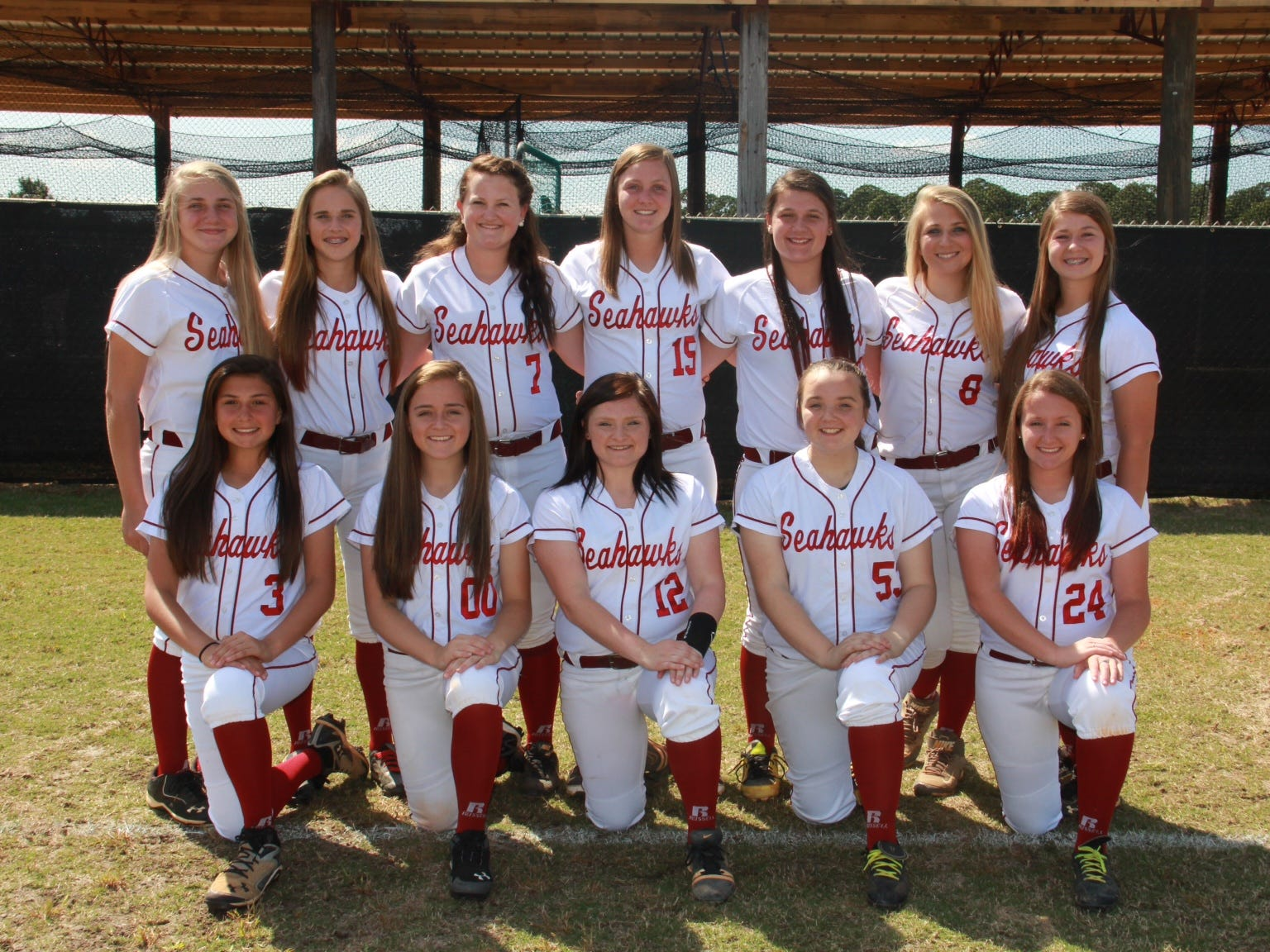 The Franklin County girls softball team is 16-10 on the season and has qualified for the regional playoffs for the first time in the school's brief eight-year history. Back row left to right: Melanie Collins, Adrianna Butler, Myranda Mcleod, Calli Westbrook, Scout Segree, Megan Collins, Allie Kirvin. Front row left to right: Alexus Johnson, Madison Smith, Vanessa Simmons, Jaylin Charles, Maddie Newell. Michaela Cassidy (not pictured).